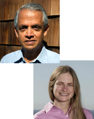 Photo of Veerabhadran Ramanathan, Ph.D., and Lynn M. Russell, Ph.D.