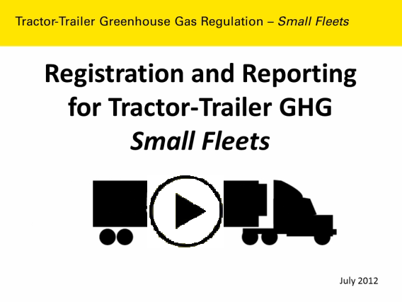 Tractor Trailer GHG Reporting and registration video button.
