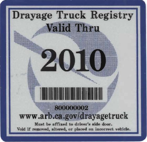 2010 DTR Label