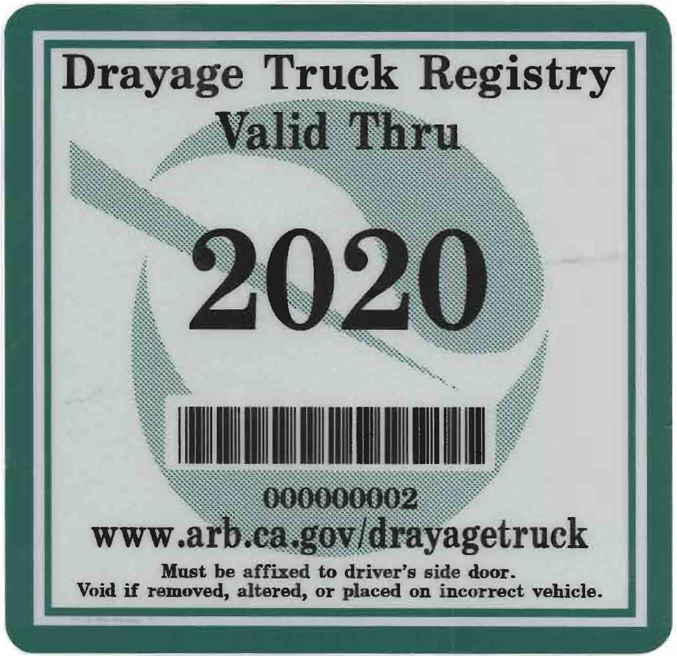 2020 compliance sticker