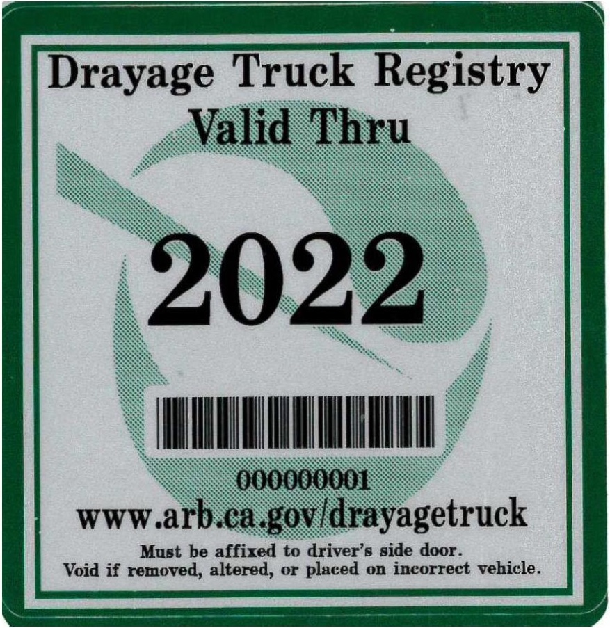 2022 compliance sticker