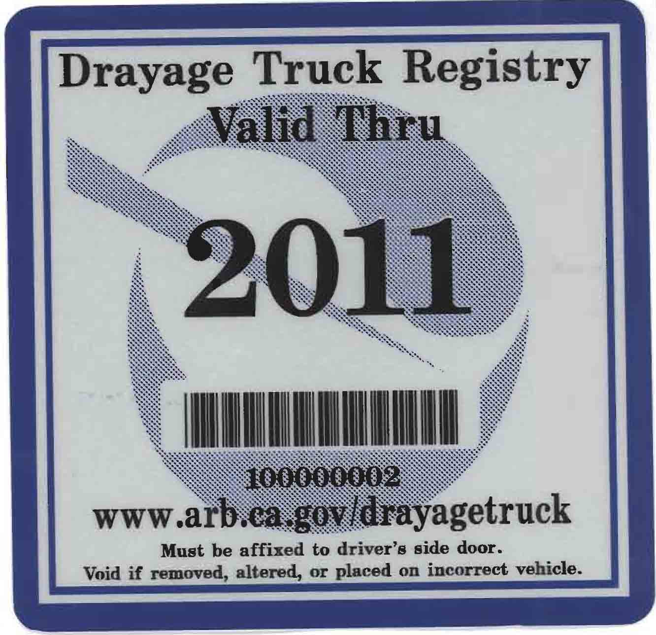 2011 compliance sticker