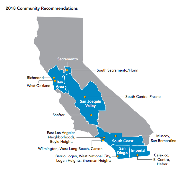 AB 617 communities map