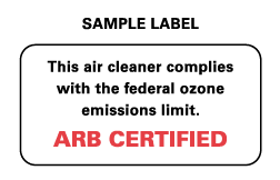air cleaner label