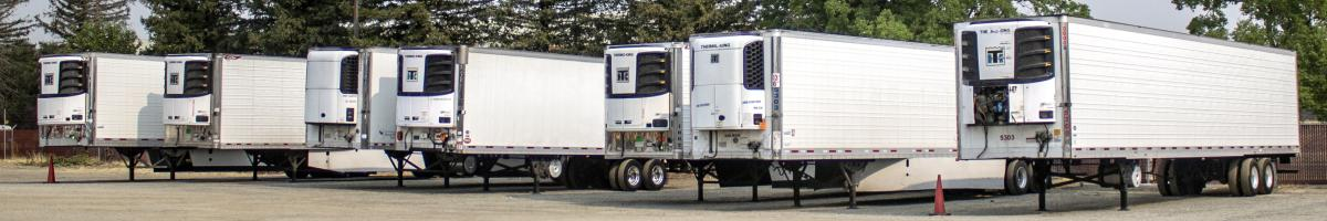 Transportation Refrigeration Unit TRU equipped trailers