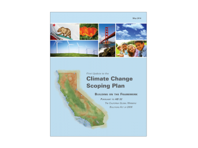 Cover page of California's 2014 Scoping Plan