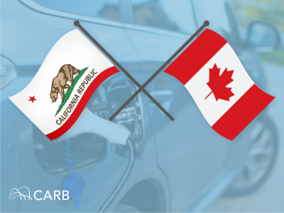 CA and Canadian Flags