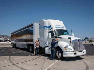 zero-emission truck at Port of LA