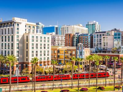 light rail through San Diego