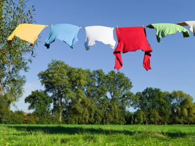 laundry hanging on the line