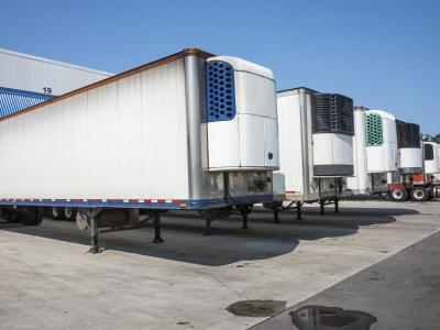 truck with transportation refrigeration units (TRU)