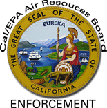 Enforcement logo with california seal