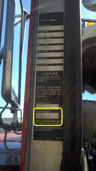 GVWR Labels   TruckStop