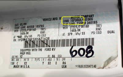 GVWR Labels | TruckStop