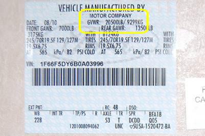GVWR Labels | The TruckStop